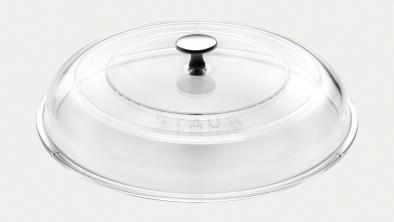 Glaslåg, 28 cm
