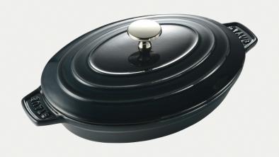 oval hot plate, la mer, 23cm