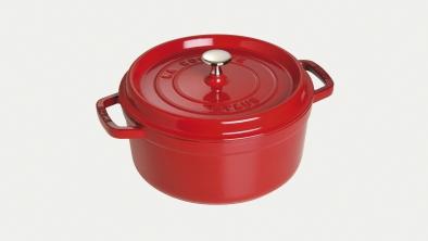 Cocotte redonda rojo cereza
