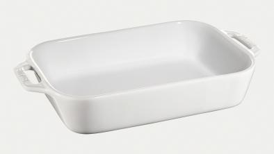 レクタンギュラーディッシュ 27×20cm/2.4L ホワイト