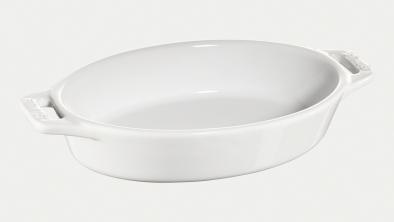 オーバルディッシュ 17cm ホワイト
