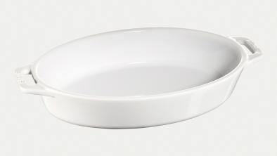 オーバルディッシュ23cm ホワイト