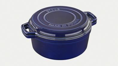 Cocotte und Grillpfanne 28 cm dunkelblau