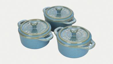 3-pc Mini Round Cocotte Set