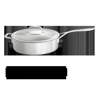 Sauteuse basse avec couvercle