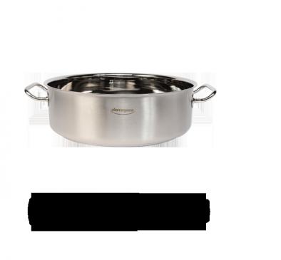 Lage kookpot zonder deksel