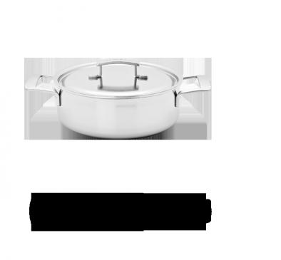 4-qt Stainless Steel Deep Saute Pan