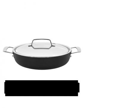 Alu Pro, casserole basse avec couvercle