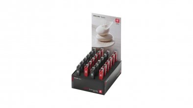 Display 24x Coupe-ongles, inoxydable, noir/rouge
