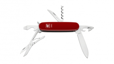 Pocket knife, red, 6 pcs.