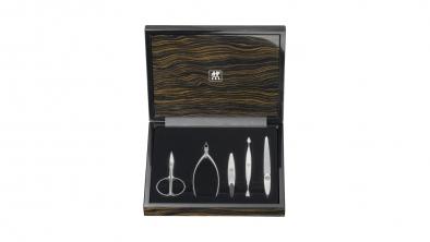 Cofre para manicura, legno d'ebano, cierre magnético, 5 pzs.