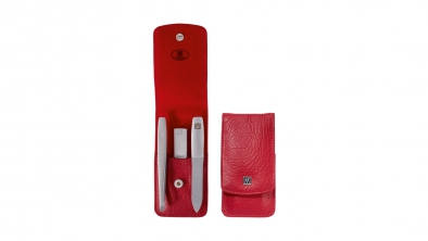 Pocket Case, Leather, Red, 3 pcs.