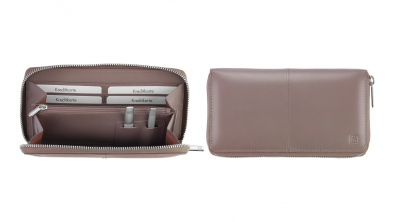 Women's Wallet with Tweezers and Nail File, Mauve
