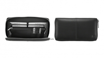 Women's Wallet with Tweezers and Nail File, Black