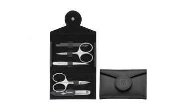 Russia Leather Manicure Set, Black, 5 Pcs.