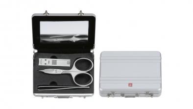 Manicure Koffer, Aluminium, 3-tlg.