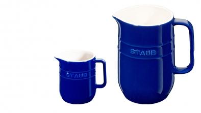 Set de jarras cerámicas azul oscuro
