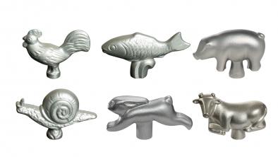 Set of 6 Animal Lid Knobs