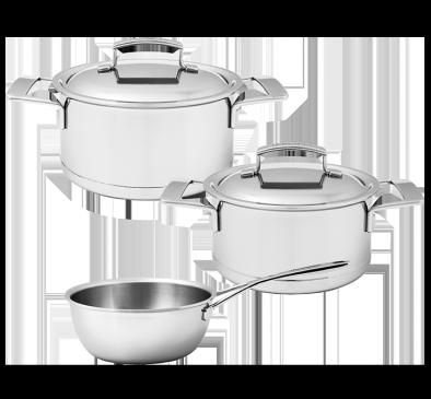 Batterie de cuisine, 3 pcs.