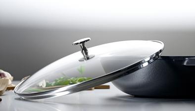 Glaslåg til wok, 30 cm