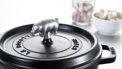 Bouton, cochon