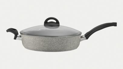 3.8-qt Aluminum  Nonstick Saute Pan + Lid w/ Helper Handle