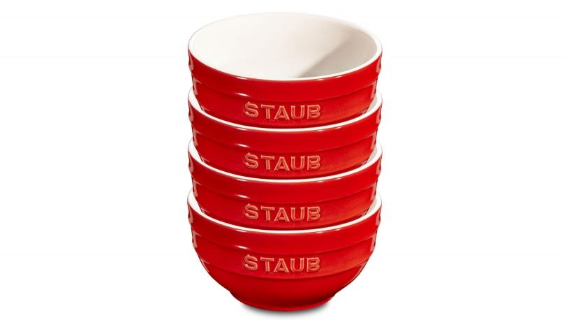 Keramik Rührschüssel-Set 4 tlg. kirschrot   Servieren   STAUB 0