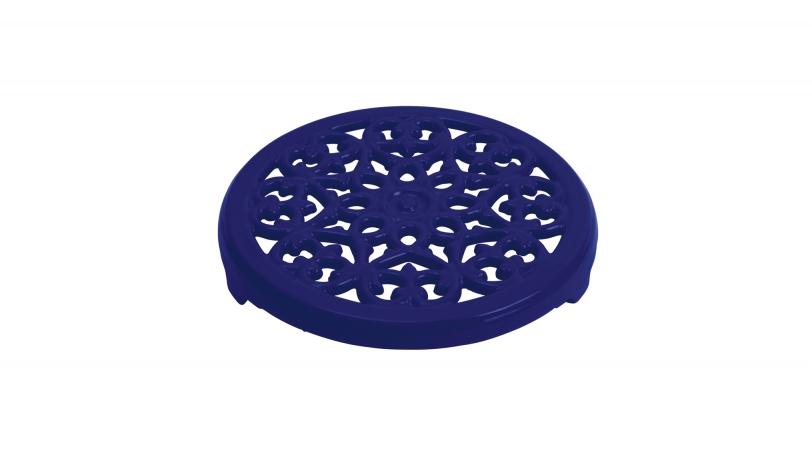 Round Lilly Trivet - Dark Blue