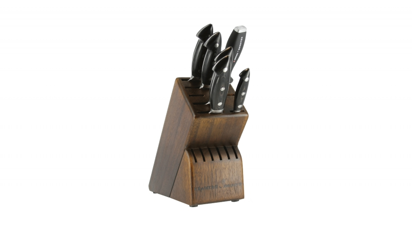 EUROLINE Damascus 7-pc Knife Block Set
