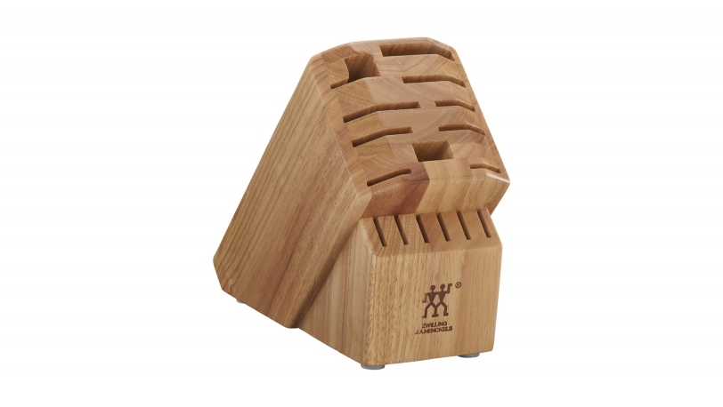 Pro Rubberwood Natural 16-slot Knife Block