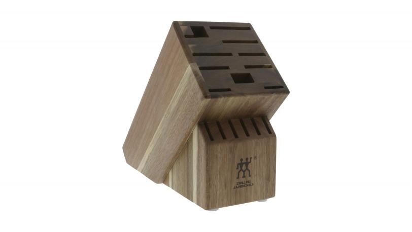 TWIN Acacia 16-slot Knife Block
