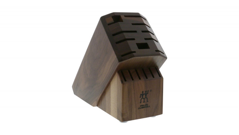 TWIN Dark Walnut 16-slot Knife Block