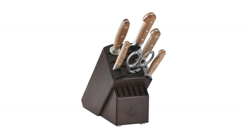 7-pc Knife Block Set - Walnut Block
