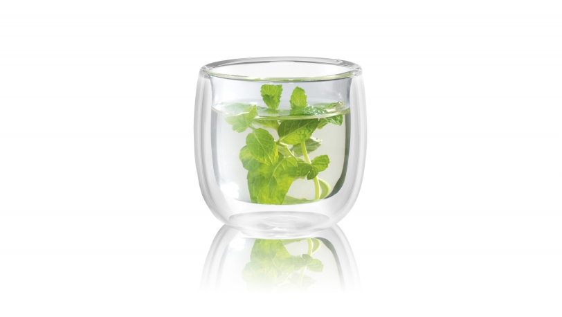 Sorrento 2-pc Double-Wall Glass Tea Cup Set