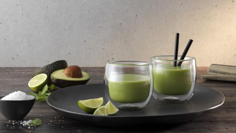 Sorrento 2-pc Double-Wall Glass Tea Cup Set