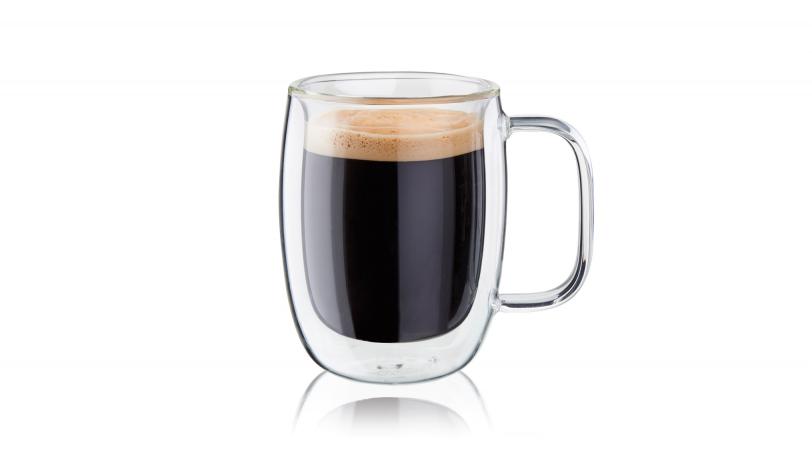 Sorrento Plus 2-pc Double-Wall, Double Espresso Glass Mug