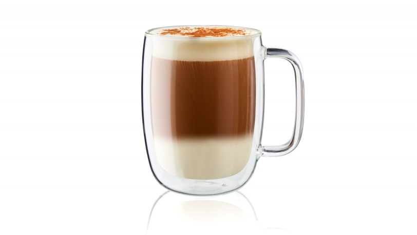Sorrento Plus 2-pc Double-Wall Latte Glass Mug