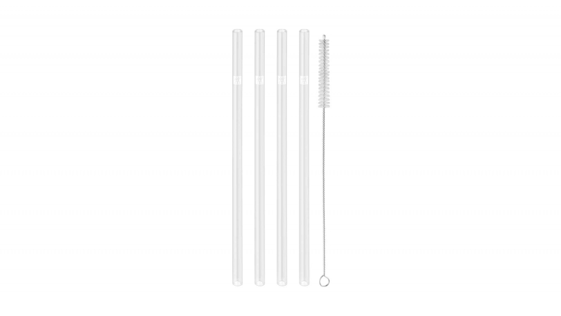 4 Piece Straight Glass Reusable Straw Set Transparent | ZWILLING® Sorrento | ZWILLING 0