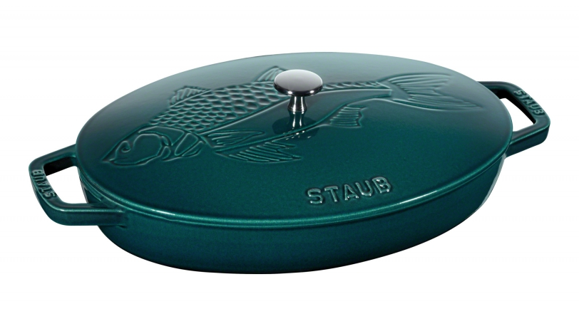 Fish Dish with Lid, La Mer, 32cm | Special Cocottes | Staub 0