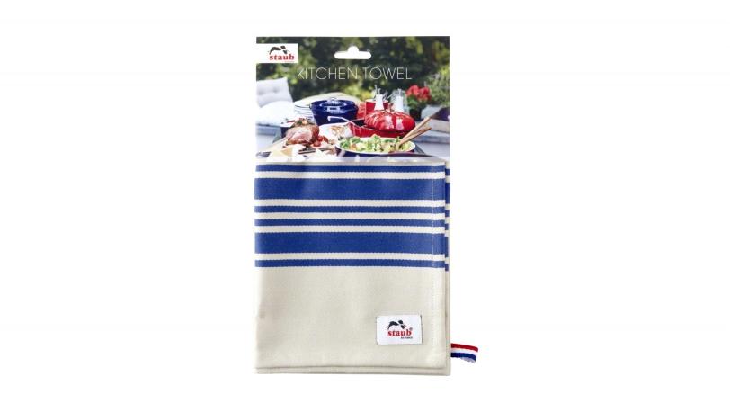 Paño de cocina con rayas azules | Textiles | Staub 0