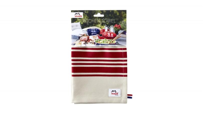Red Striped Tea Towel | Textiles | Staub 0