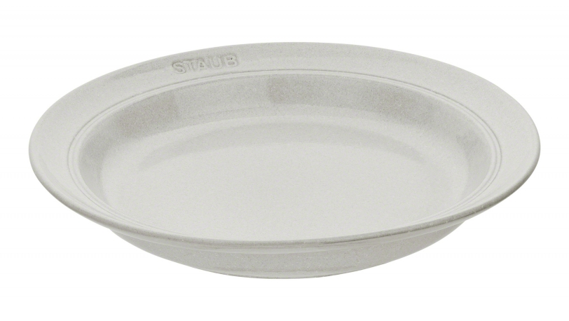 Dyb tallerken i keramik, White Truffle | Servering | Staub 0