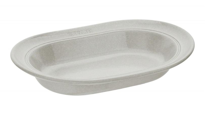 Dyb, oval tallerken i keramik, White Truffle | Servering | Staub 0
