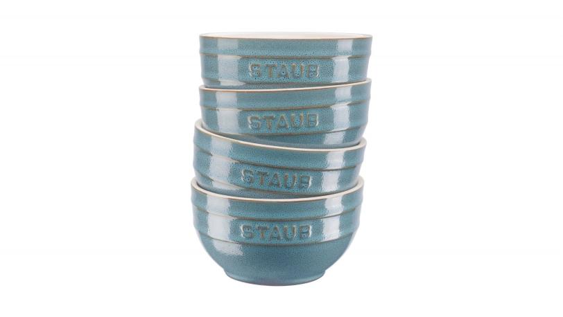 Set Of 4 12cm Ceramic Bowls Ancient Turquoise | Tableware | STAUB 0