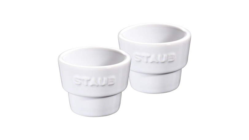 Set of 2 Egg Cups, White | Tableware | Staub 0