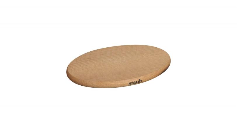Oval Magnetic Wooden Trivet Medium | Trivets | Staub 0