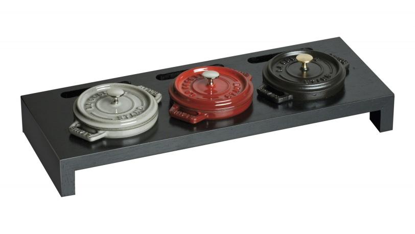 ミニココット用スタンド STAUB(鋳物ホーロー鍋)用アクセサリー 42×16×5cm (40509-374-0) | スタンド | ストウブ 0