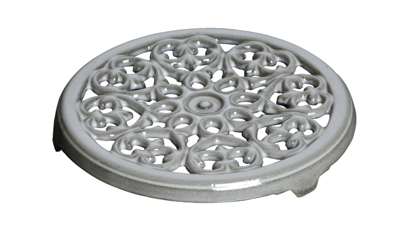 Round Lilly Trivet - Graphite Grey