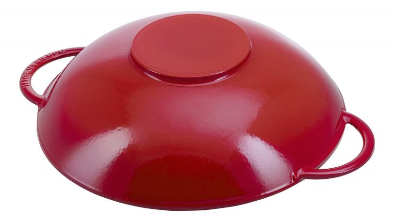 Wok avec couvercle en verre