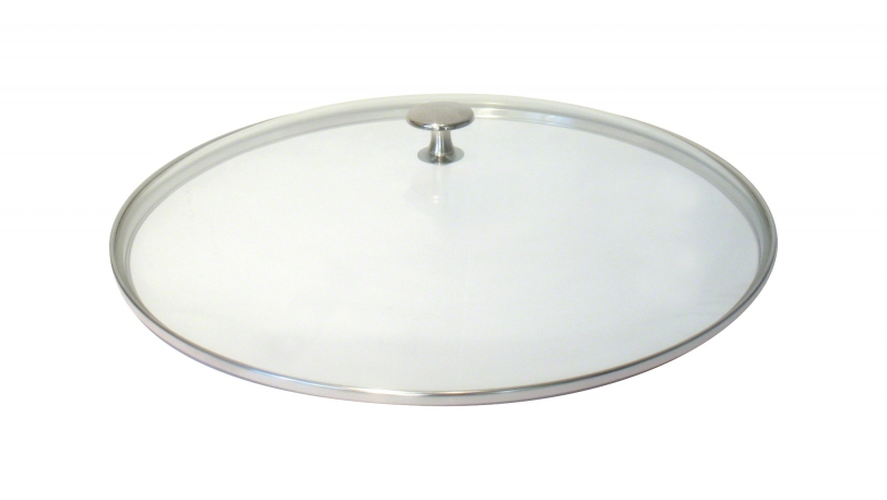 Glasdeckel, flach, 37cm, Nickelknauf | Deckelzubehör | STAUB 0